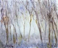 paisaje con árboles by manuel baeza