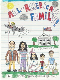 all american family (commissioned portrait of the robbins family) by michael scoggins