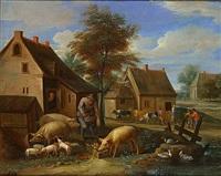 rond de boerderij (autour de la ferme) by thomas van apshoven