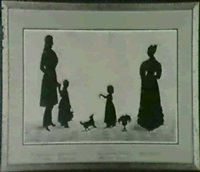 silhouette portrait of the caldwell family by william james hubard
