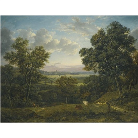 view of greenwich from charlton wood near woolwich by patrick nasmyth