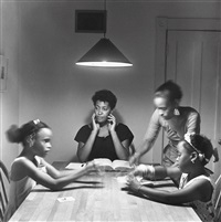 untitled (woman and daughter with children) by carrie mae weems