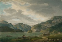 der königsee in berchtesgaden by johann baptist isenring