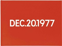 december 20th, 1977 by on kawara