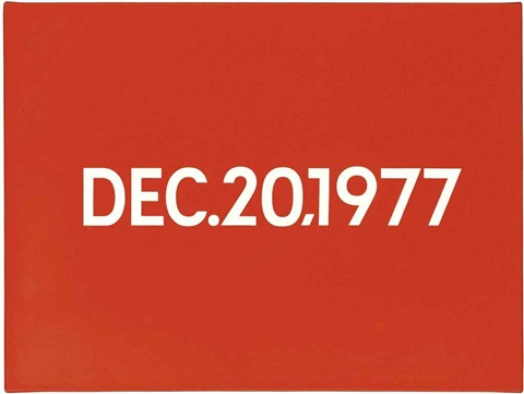 december 20th 1977 by on kawara
