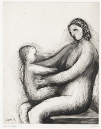 mother and child xiii by henry moore