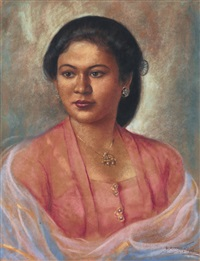 portrait of a javanese lady by raden basoeki abdullah