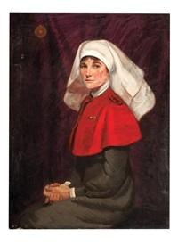 portrait of a nurse by frederick william leist