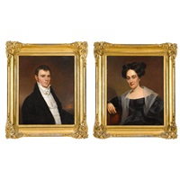 pair of portraits: a lady and a gentleman of philadelphia by american school (19)