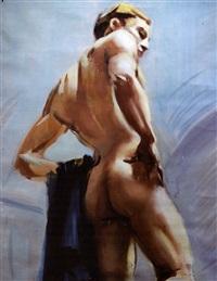 giovane nudo di schiena by emilio ambron