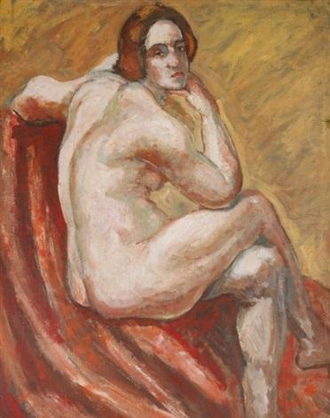 jeune femme les bras croisés by pierre paul girieud