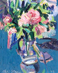 still life - flowers in a vase by brian mcmahon