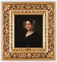 portrait einer edeldame by albert korneli stattler