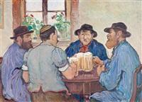 paysans fribourgeois au bistrot by françois louis jacques