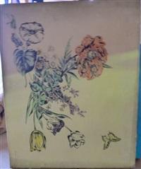 bouquet de fleurs au papillon by sei koyanagui