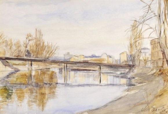 pont au dessus de la rivière by charles de ziegler