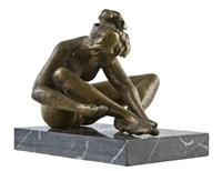 crouching woman by matti haupt