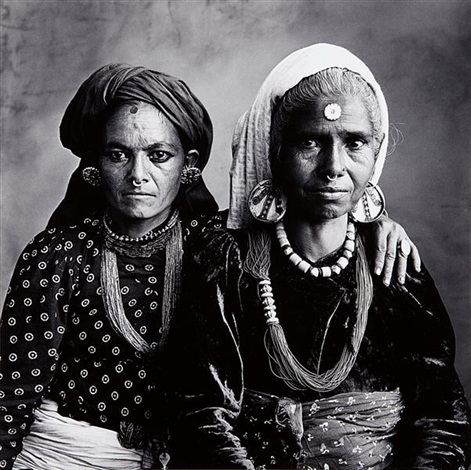 two nepal women with nose rings nepal by irving penn