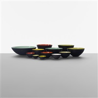 collection of twelve krenit bowls (set of 12) by herbert krenchel