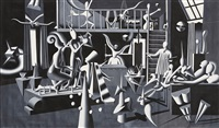 being in the artist atelier by mark kostabi