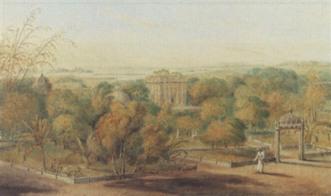 views of india the hospital gate by edward hawker locker