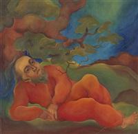 alter im wald (+ landschaftsdarstellung, verso) by christian arnold