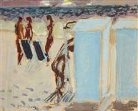 la douche sur la plage by edouard-georges mac-avoy