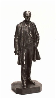a bronze portrait figure of henry b. hyde by john quincy adams ward