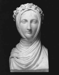 bust of a vestal virgin by pompeo marchesi