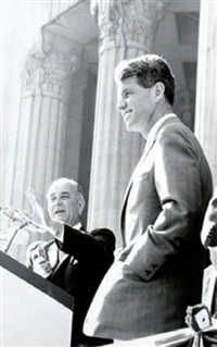 le sénateur robert f. kennedy avec lyndon b. johnson (+4 others; 5 works, various sizes) by vytas valaitis