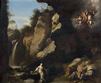 marie madeleine dans une grotte by johan van haensbergen