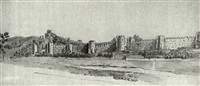 views of conway and conway castle by francis (capt.) grosse