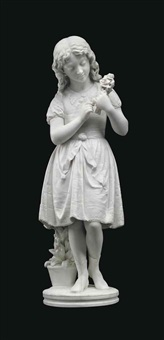 figure of a girl by aristide fontana
