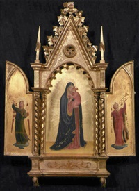 madonna col bambino e angeli musicanti (triptych) by fra angelico