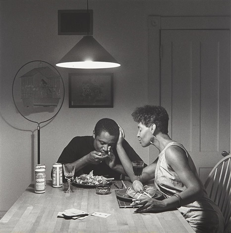 the kitchen table series untitled eating lobster by carrie mae weems