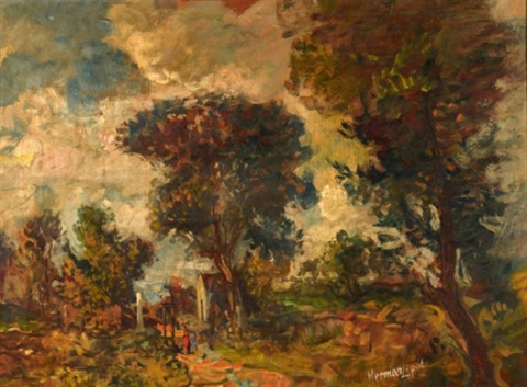 landscape by lipót herman