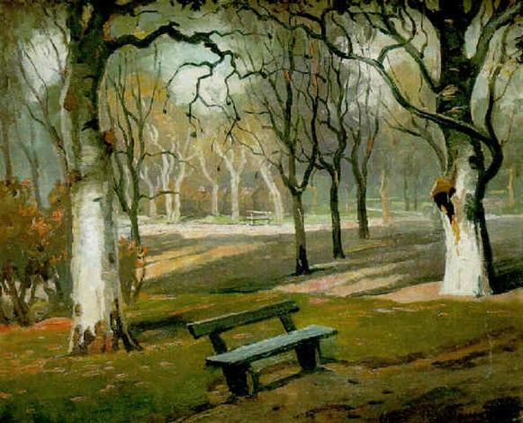 banco en el parque by maurice vagh weinmann