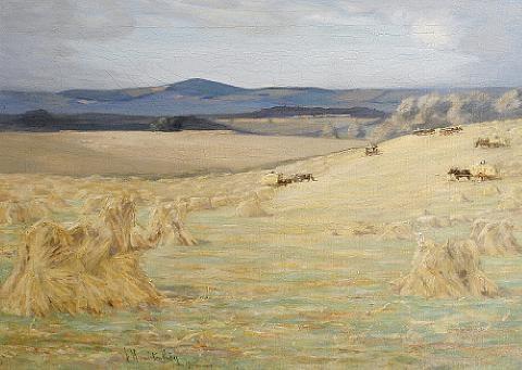 harvest time, berwick by james hermiston haig