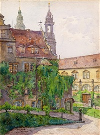 der alte stallhof in dresden by paul geissler