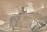 ruins on the top of a scottish cliff by john sell cotman