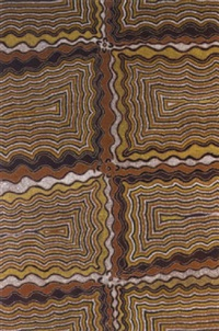 dreamtime string weaving by naparrula narpula scobie