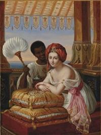 jeune orientale et sa servante by julie volpelière