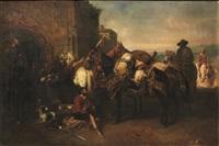 la sosta della carovana by flemish school (19)