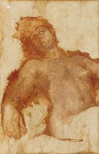 nu féminin à mi-corps by fernand cormon