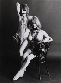 deux femmes nus by jean-francois bauret