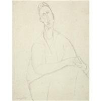 portrait de gabrielle soene by amedeo modigliani