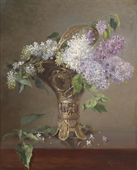 flieder in vase by ludwig kandler