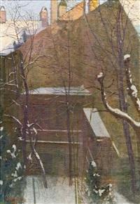 haus im winter by friedrich könig