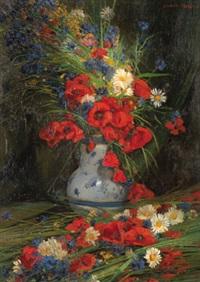 sommerblumen in einer vase by laurence frederic