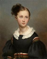 portrait de jeune fille by ary scheffer